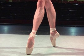 Men En Pointe: The Male Feet and Siberian Swan's Rudolf Pointe Shoes