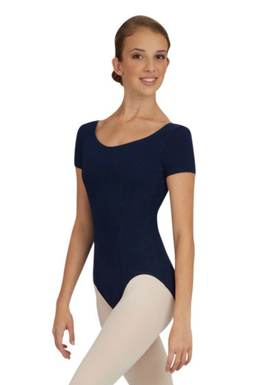 WOMEN'S SHORT SLEEVE LEOTARD BY CAPEZIO