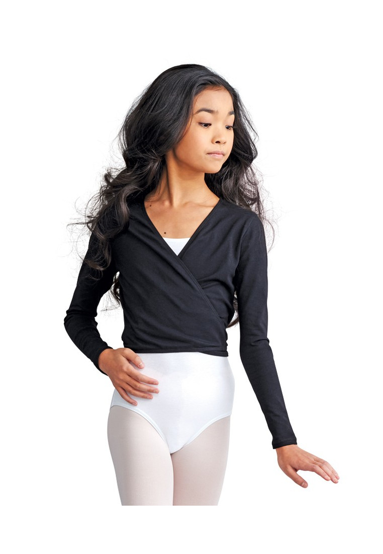 GIRLS' WRAP TOP BY CAPEZIO 1