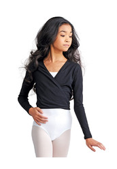 GIRLS' WRAP TOP BY CAPEZIO