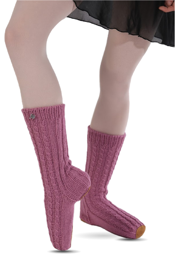 WOOL HANDMADE BALLET SLIPPER SOCKS BY ΤΑΝΟΚ 3