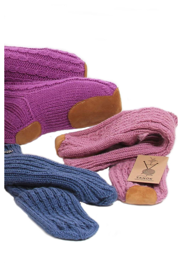 WOOL HANDMADE BALLET SLIPPER SOCKS BY ΤΑΝΟΚ 4
