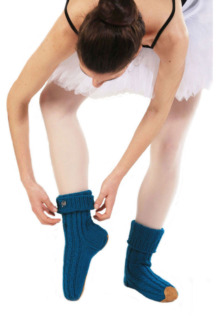 WOOL HANDMADE BALLET SLIPPER SOCKS BY ΤΑΝΟΚ 1