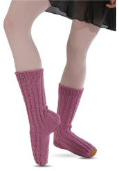 WOOL HANDMADE BALLET SLIPPER SOCKS BY ΤΑΝΟΚ