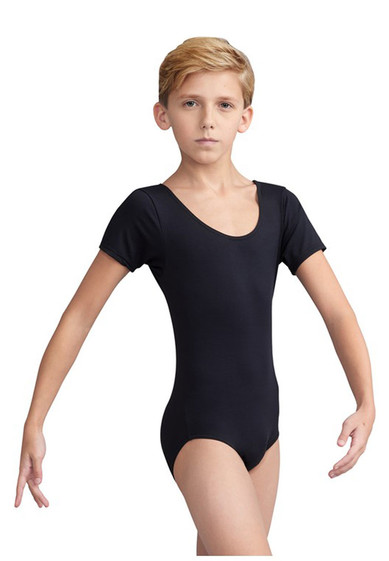 BOY'S SHORT- SLEEVED LEOTARD BY CAPEZIO