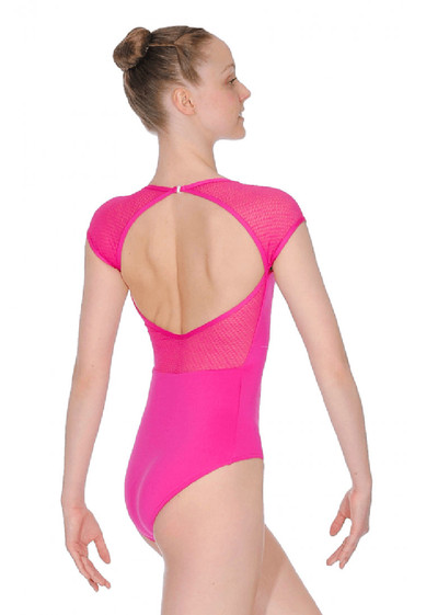 CAP SLEEVE OPEN BACK LEOTARD BY CAPEZIO