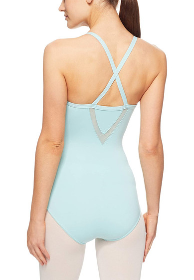 CAMISOLE LEOTARD WITH MESH INSERTS BY CAPEZIO