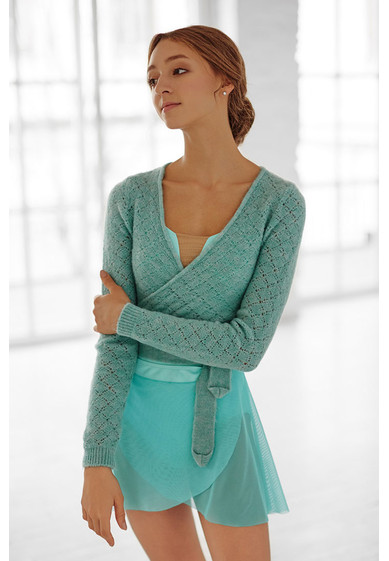 OPEN-WORK KNITTING BOLERO BY GRISHKO