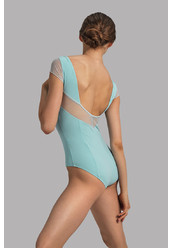CLASSIC EXCELLENCE.MESH CAP SLEEVE LEOTARD BY GRISHKO